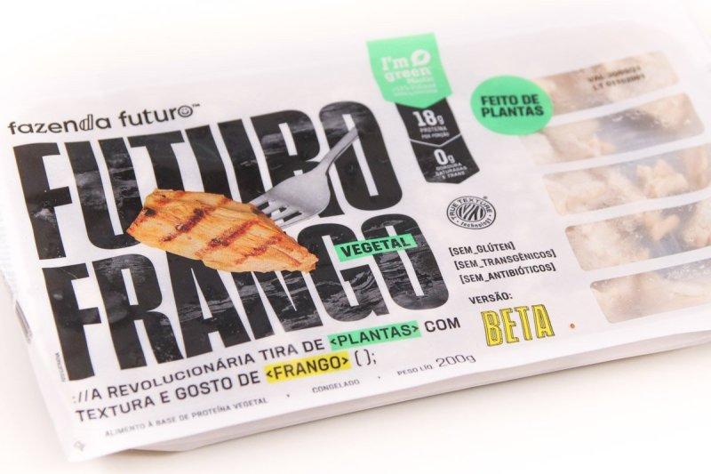 Embalagem do Futuro Frango da Fazenda Futuro.