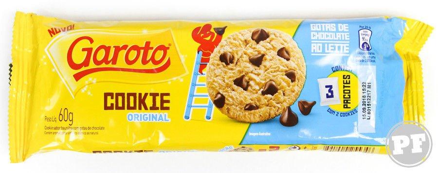 Embalagem do Garoto Cookie Original