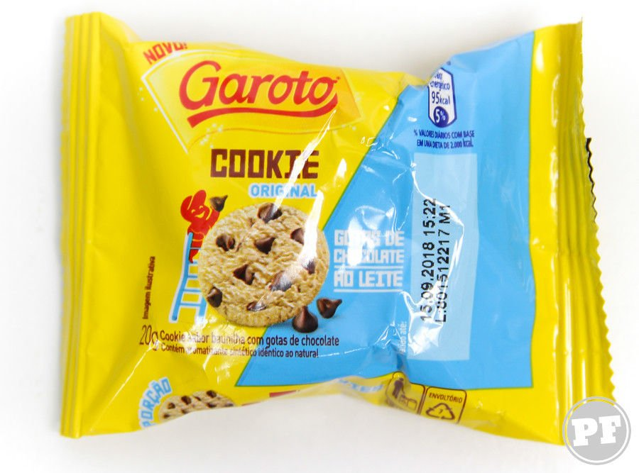 Pacote individual do Garoto Cookie Original