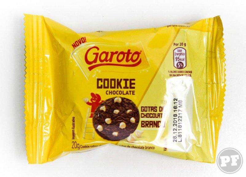Pacote individual do Garoto Cookie Chocolate