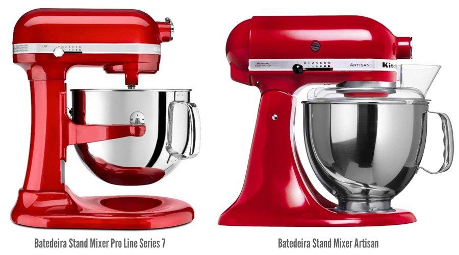 Batedeira KitchenAid: Comparativo lado a lado dos modelos Pro Line Series 7 e Artisan