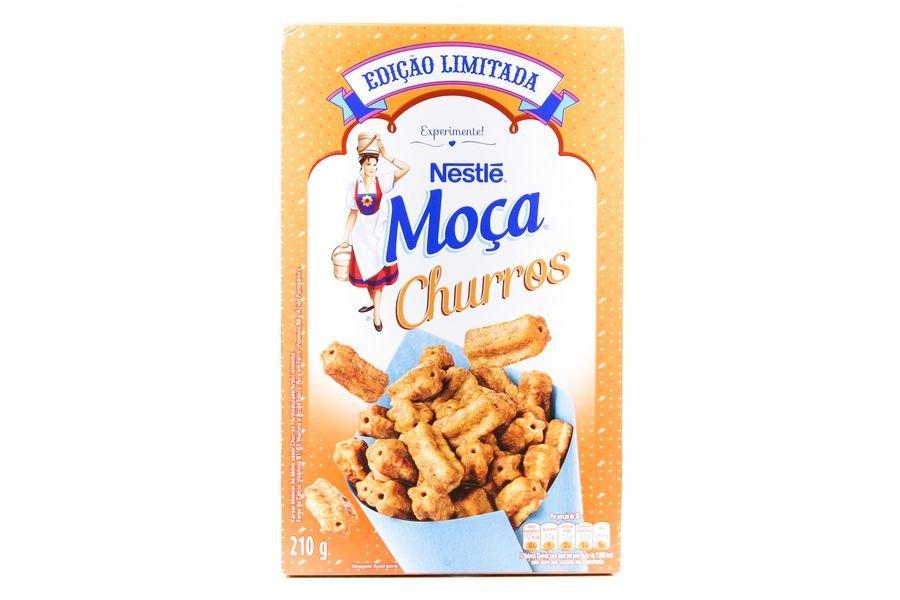 Embalagem do cereal moça churros