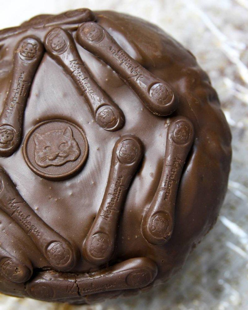 Panettone de chocolate visto de cima