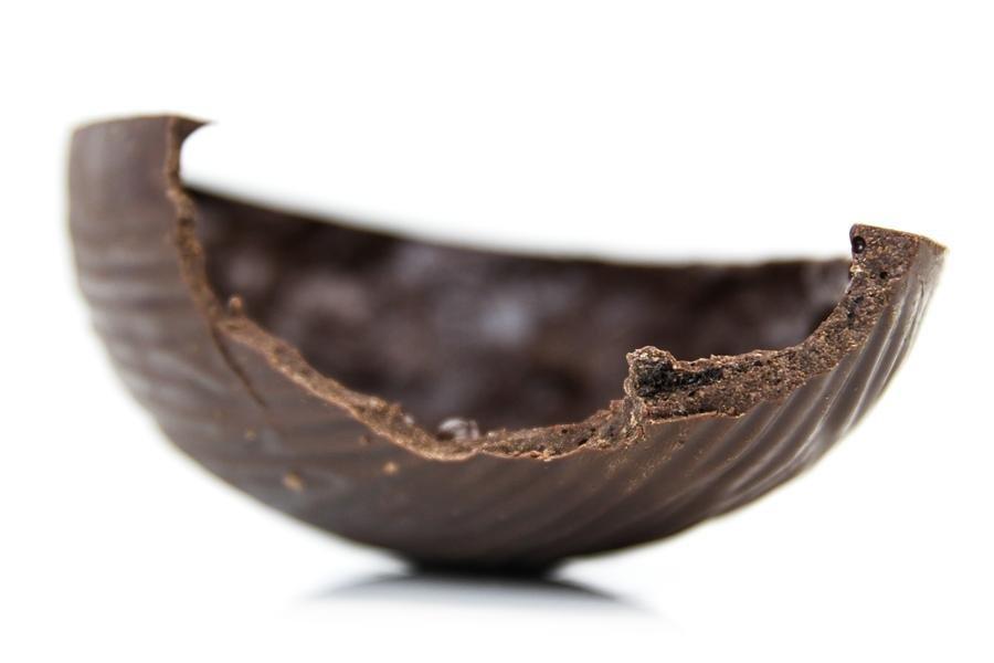 Pedaço de ovo bis black em detalhe