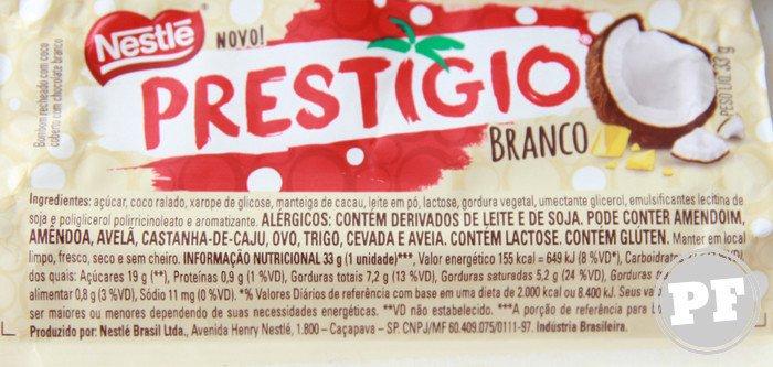 Prestígio Branco da Nestlé por PratoFundo.com
