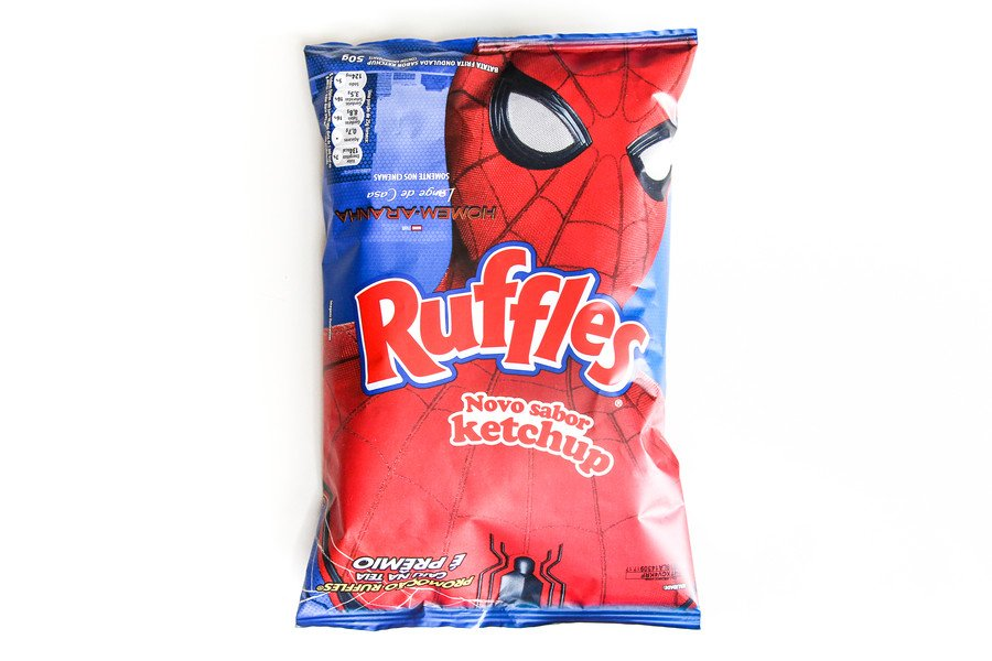 Embalagem da ruffles ketchup