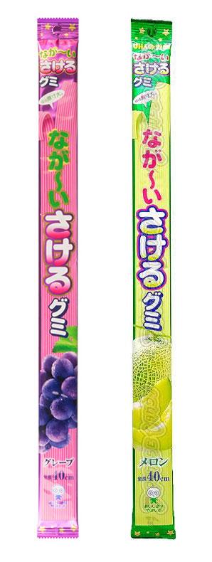 Sakeru Gummy Candy Uva e Melão Long Long
