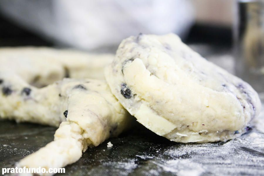 Scones de Blueberry e Cranberry