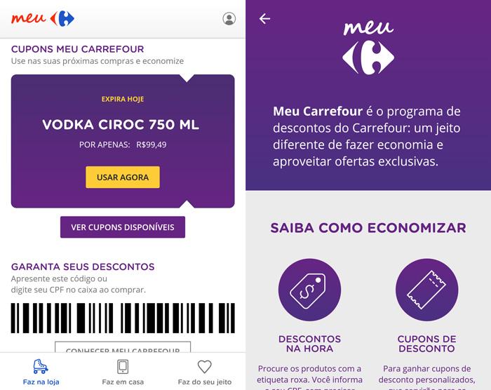 Aplicativo do Carrefour