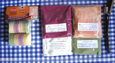 Beterraba, espinafre, cenoura, wasabi em pó e fava de baunilha
