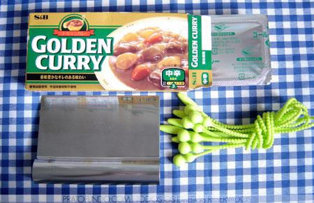 Cordão de silicone, curry, espátula