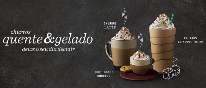 Starbucks lança bebidas sabor Churros!