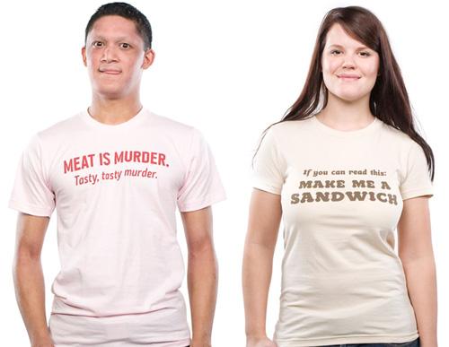 Tees: Meat is Murder / Make a Sandwich