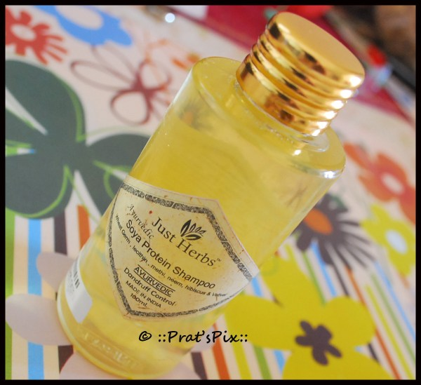 Dandruff Control Ayurvedic Soya Protein Shampoo by Just Herbs