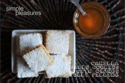 Vanilla Sables with Orange jelly
