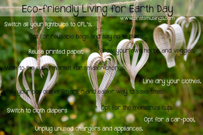 Eco-friendly living for Earth Day