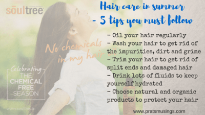Hair care in summer