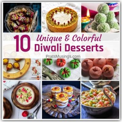 10 Unique and Colorful Dessert Recipes for Diwali that you Must Try