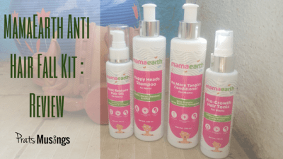 MamaEarth Anti Hair Fall Kit : Review + Giveaway