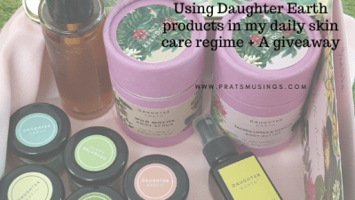 Using Daughter Earth products in my daily skin care regime