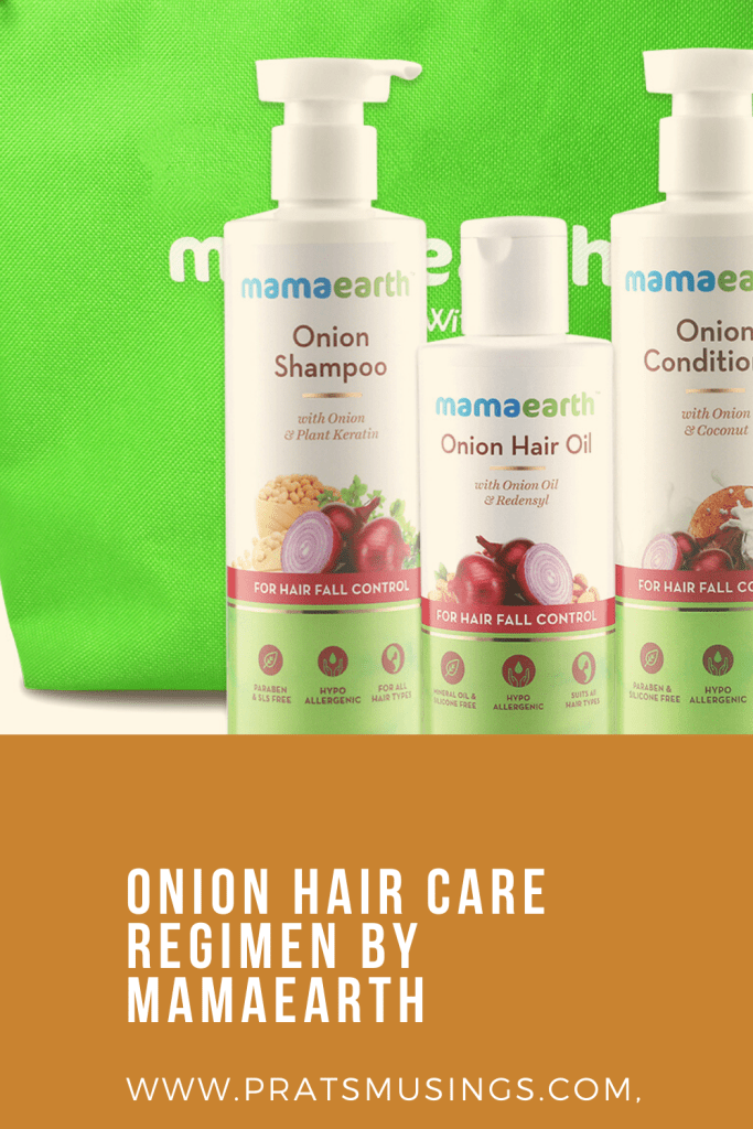 Onion Hair Care Regimen by Mamaearth