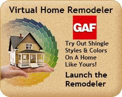 GAF roofing virtual remodeler