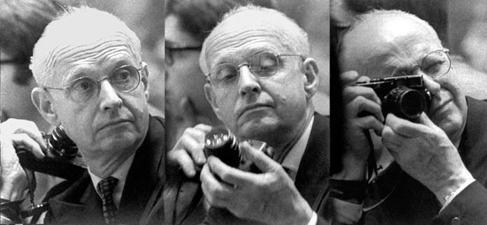 Cartier-Bresson defendía que la fotografía busque capturar el clímax de la acción y que conseguirlo es el fruto de alinear cabeza, ojo y corazón.