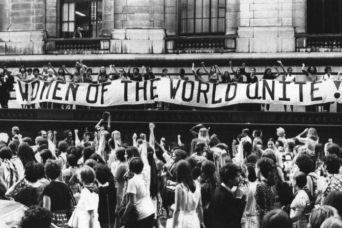 marcha feminista paris 70s