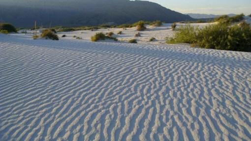 arena blanca, antiguo mar