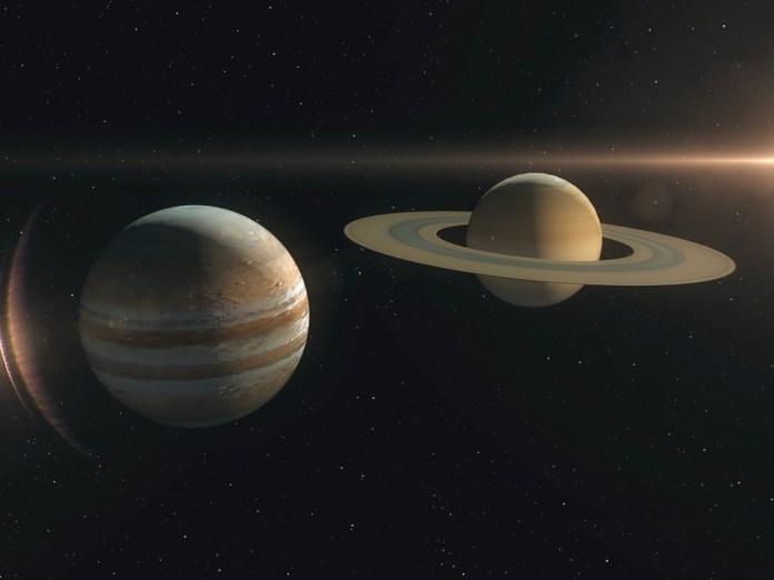 union planetaria, jupiter, saturno, diciembre