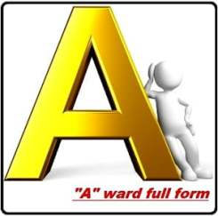 all full form of ''A'' word
