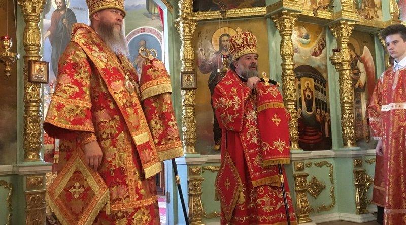 Владыка Митрофан поздравил митрополита Пантелеимона