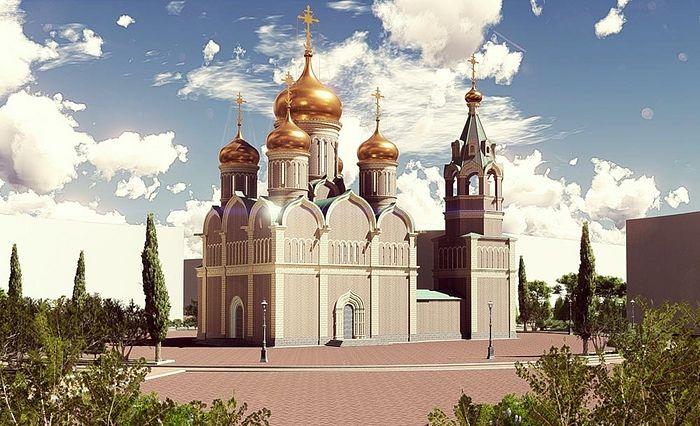 The project of the Russian-Serbian church in Banja Luka, Republika Srpska.