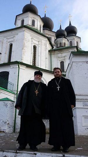 Протоиерей Николай Агафонов и отец Андрей Степанов