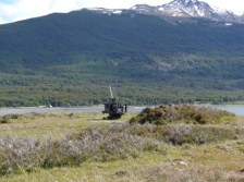 You can still see defence batteries from Chile´s last stand off with Argentina along the coast