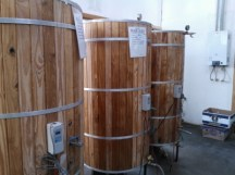 Maturation tanks in the Baguales brewery