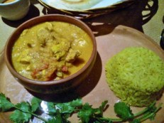 Chicken jalfrezi and rice