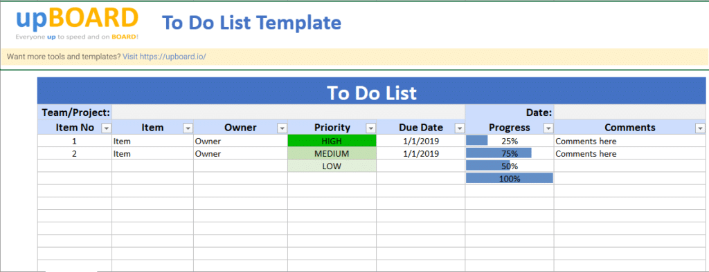 """"""" project prioritization template """"; To Do List Online Software Tools Templates"""