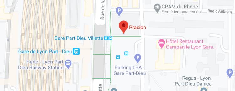 Agence Lyon de Praxion carte