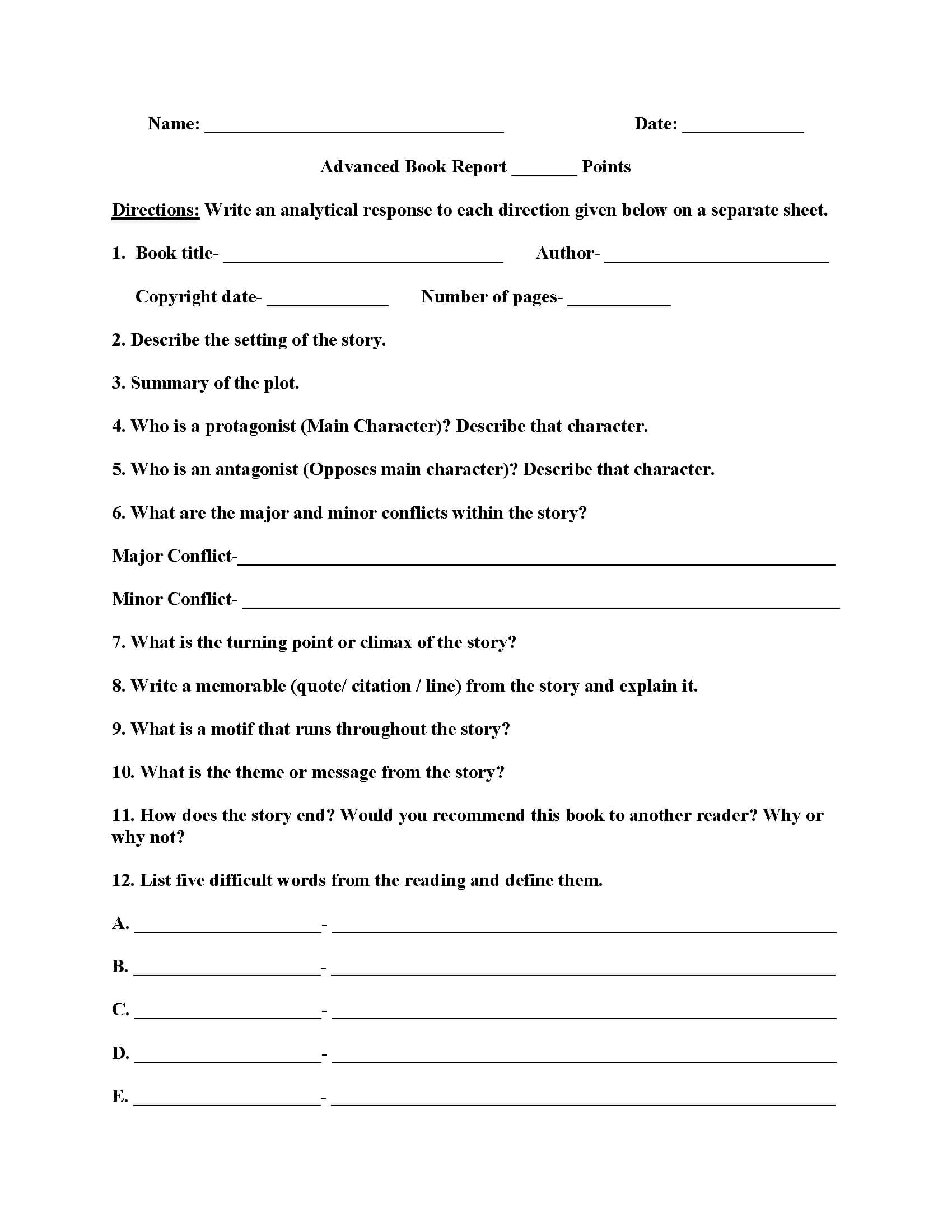 007 Biography Book Report Template Formidable Ideas Free