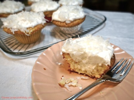 Spring Coconut Cupcakes