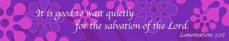 Lamentations 3-26