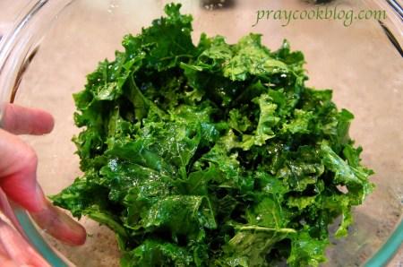 oiled kale