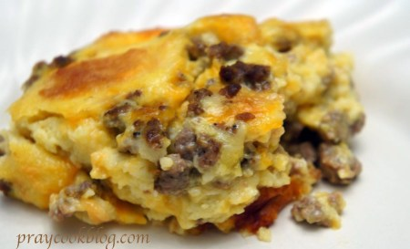 sausage egg casserole single