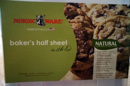 bakers half sheet label