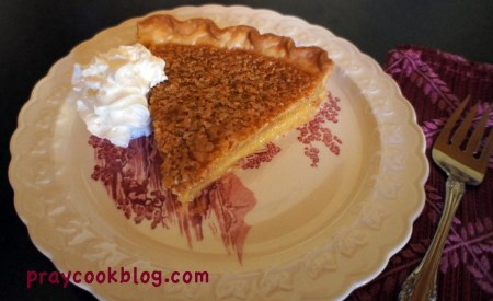 Lemon chess pie down