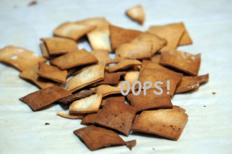 Overcooked crackers