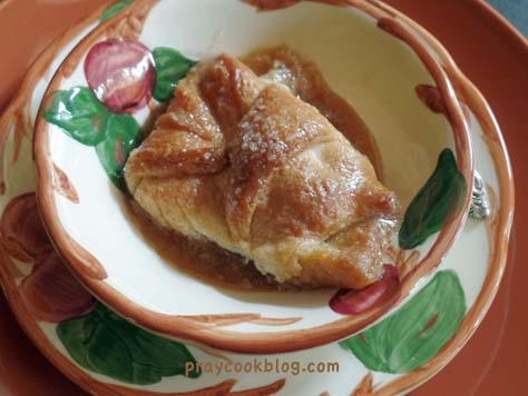 apple dumpling single plated