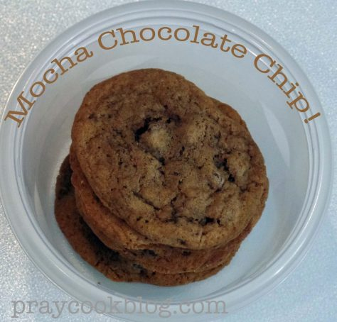 mocha chocolate chip down