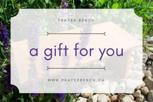 Prayer Bench Gift Card
